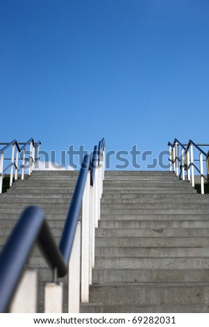 Set of stairs, outdoors, low angle view
