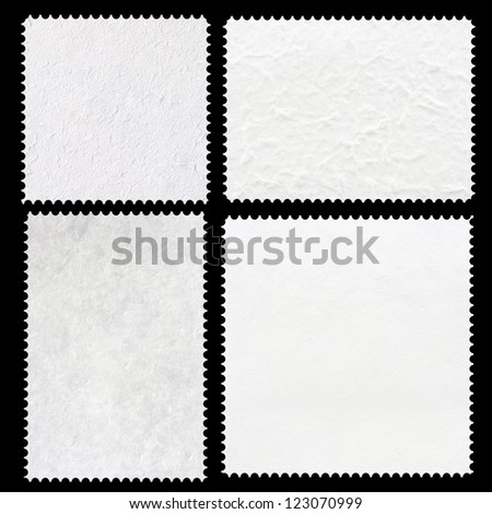 Set of stamps template mulberry paper isolated. - stock photo