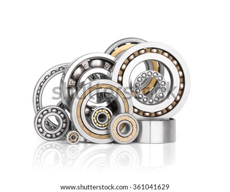 Set of steel ball bearings