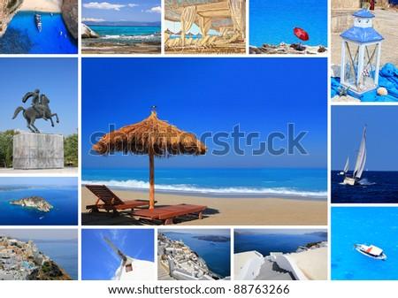set of summer photos of Greece - stock photo