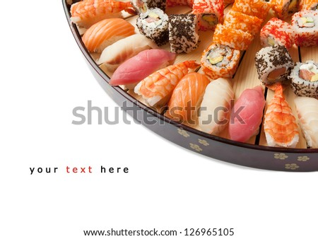 set of sushi on a plate