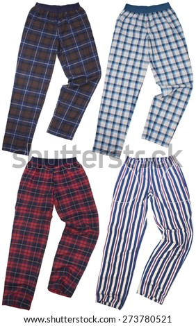 Set of sweatpants isolated on a white background - stock photo