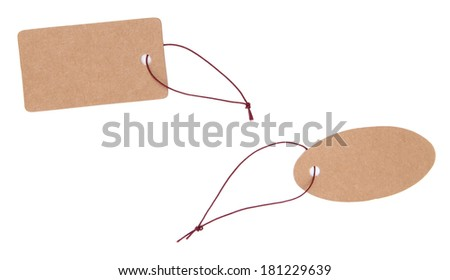Set of tags isolated on white - stock photo