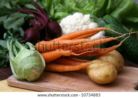 Set of tasty vegetables