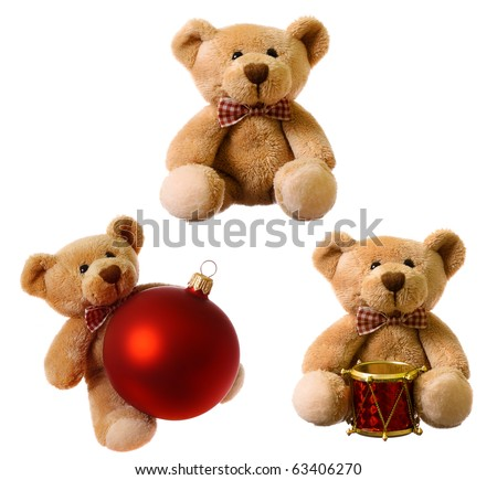 Set of teddy bear - stock photo