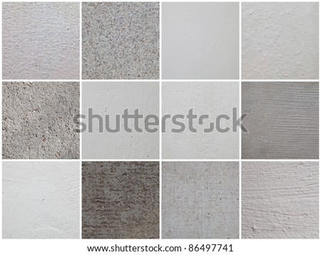 Set of textures of the walls in high definition - stock photo