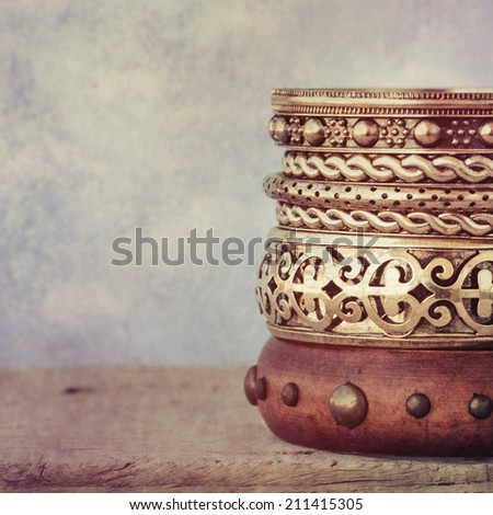 set of the Bracelet - stock photo