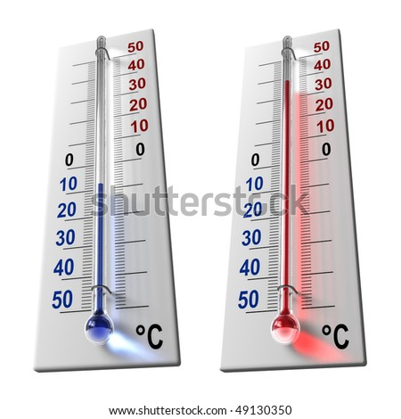 Set of thermometers - stock photo