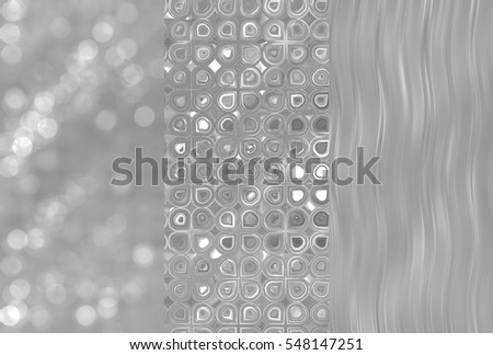 Set of three grey backgrounds and illustrations with abstract picture