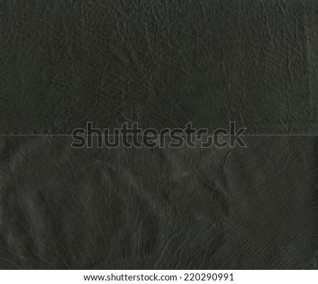 Set of two types of black leather texture - stock photo