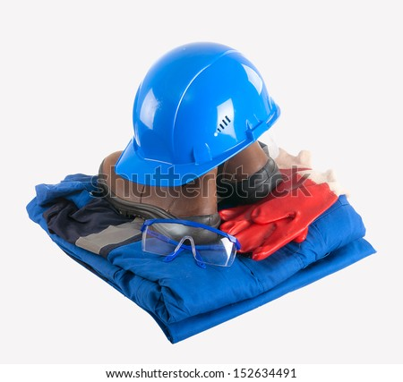 Set of uniforms for work. isolated on a white background. - stock photo