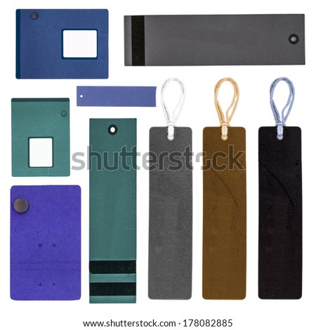 Set of various paper tags   - stock photo