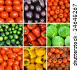 set of vegetable backgrounds - stock photo