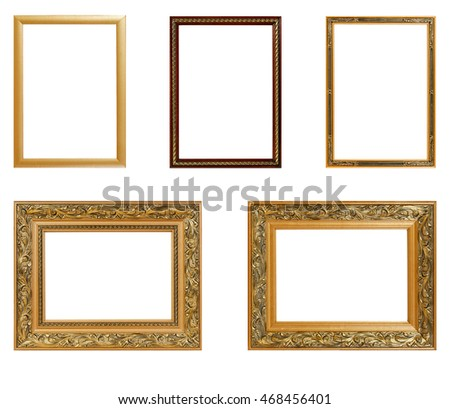 Set of vintage frame isolated on white background. Interior Design. Copy space.