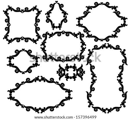 Marvellous frame logo vector pics