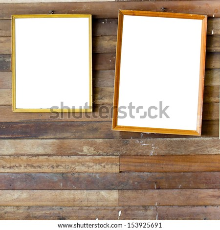 Set of Vintage gold picture frame - stock photo