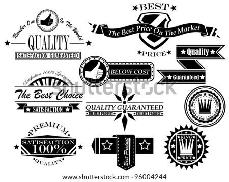 SET OF VINTAGE LABEL COLLECTION 5 - stock photo