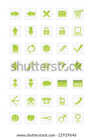 Set of web icons illustration