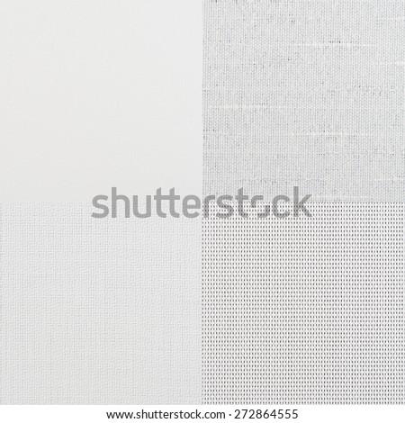 Set of white vinyl samples, texture background. - stock photo