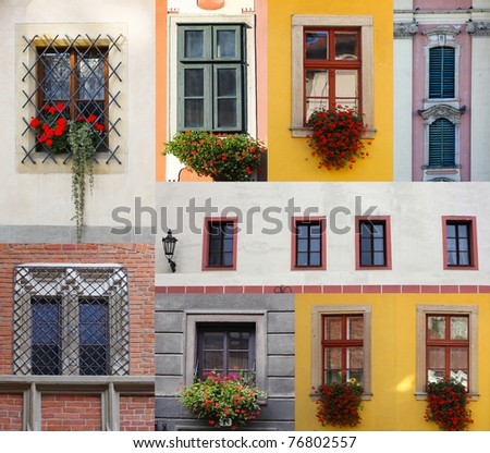 set of windows