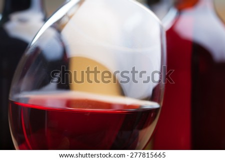 set of wine - stock photo