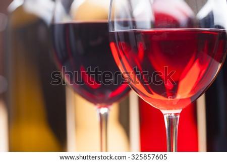 set of wine - stock photo
