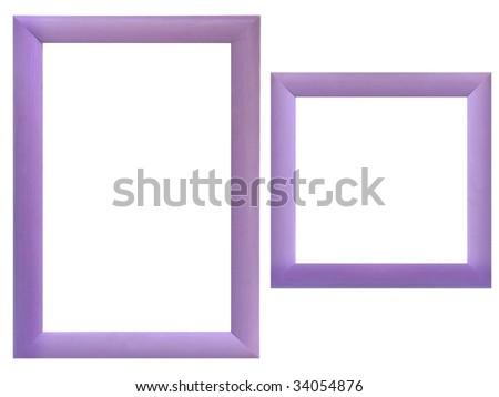 Set of wood frames - stock photo