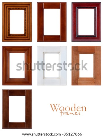 Set of wooden frames.