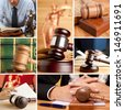 Set of wooden gavel and law 5 - stock photo