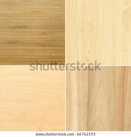 Set of wooden textures, backgrounds - stock photo