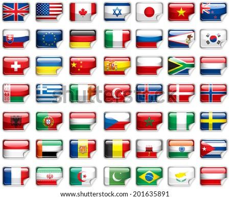 Set of world flags.  - stock photo