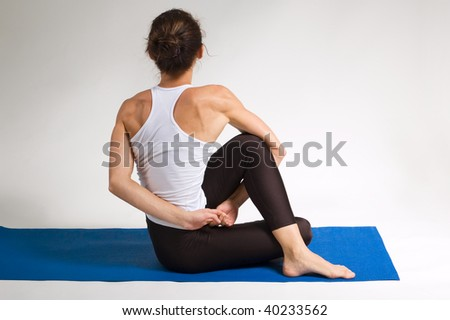 set of young attractive yoga girl doing exericise. 73 of 116