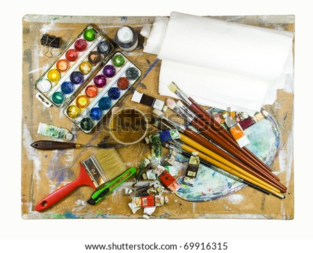Set painter. - stock photo