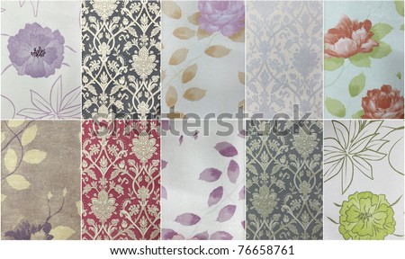 Set paper and fabric texture - stock photo