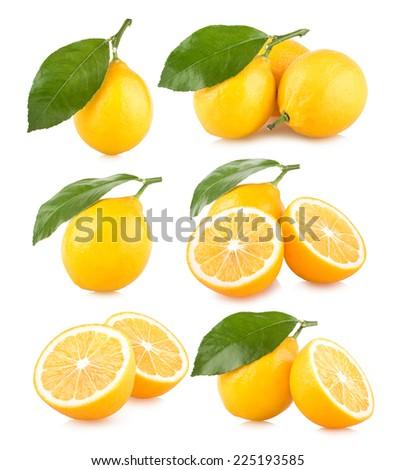 set pf 6 lemon images - stock photo