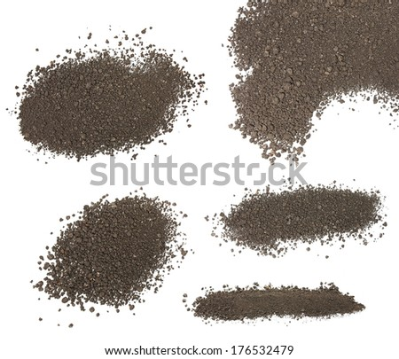 set pile dirt isolated on white background with clipping path, (high resolution) - stock photo