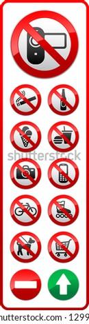 Set - Prohibited symbols - stock photo