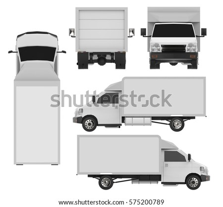 delivery truck vector template semi truck image vectorielle 586557467 shutterstock. Black Bedroom Furniture Sets. Home Design Ideas