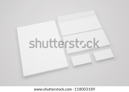 Set Stationery Corporate ID - stock photo