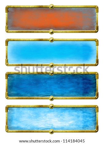 Set steampunk screens. Graphic elements for web and design - stock photo