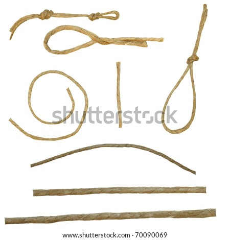 set string isolated on white background texture - stock photo