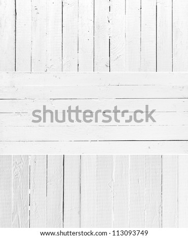 Set texture of weathered painted wooden plank - stock photo