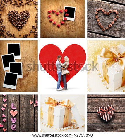 Set Love Photos Young Couple Love Stock Photo (Edit Now)- Shutterstock