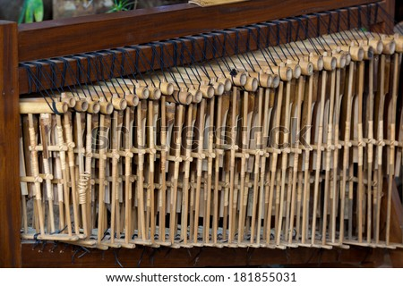 Sets of Angklung Wood Music Instrument from Indonesia