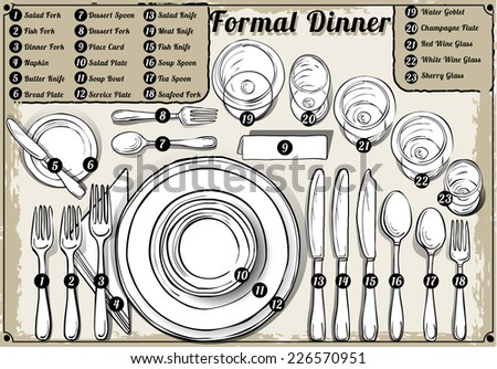 Setting place formal placemat place setting stock illustration place setting informal place mat formal placement plate napkins ccuart Choice Image
