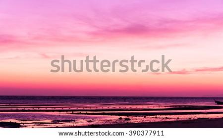 Setting Sun Idyllic Wallpaper  - stock photo