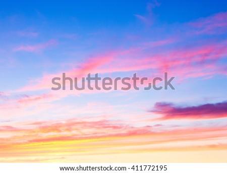 Setting Sun Night is Coming  - stock photo