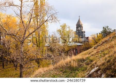 Sevanavank Monastery located at the bank of Lake Sevan in Armenia - stock photo