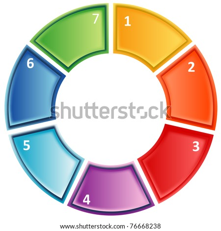 seven Blank numbered cycle process business diagram illustration - stock photo