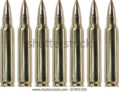 Seven Bullets - stock photo